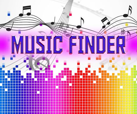 finder: Music Finder Representing Search Out And Finds