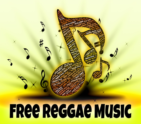 handout: Free Reggae Music Representing No Charge And Handout