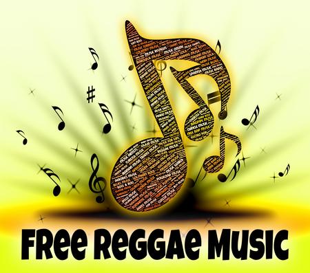reggae: Musique Reggae Gratuit Repr�sentant gratuitement et Handout Banque d'images