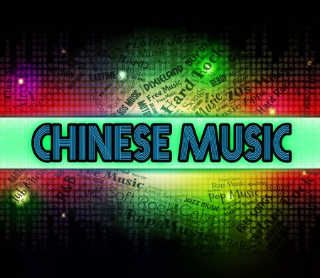 melodies: Chinese Music Showing Sound Tracks And Singing