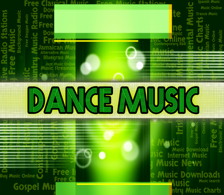 musique dance: Dance Music Showing Sound Tracks And Tunes