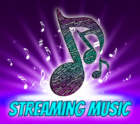 live stream music: Streaming Music Showing Sound Tracks And Songs