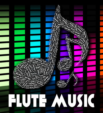 wind instrument: Flute Music Showing Wind Instrument And Harmony