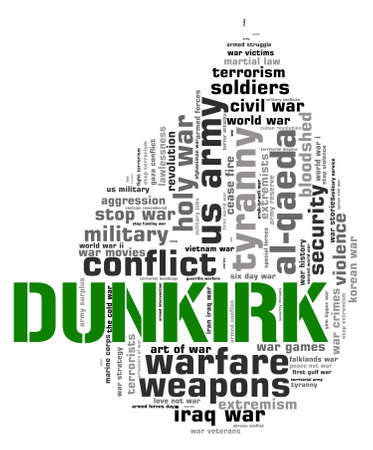 allied: Dunkirk Word Showing Military Action And Allied