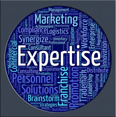 expertise: Expertise Word Showing Skill Wordcloud And Skills