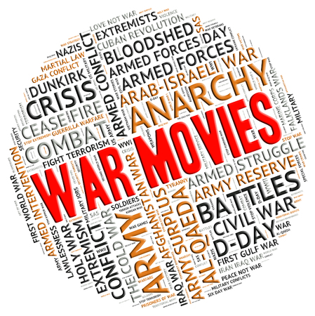 clashes: War Movies Meaning Picture Show And Warfare