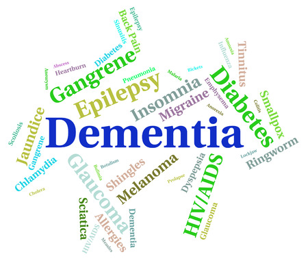 senility: Dementia Word Indicating Ill Health And Senility
