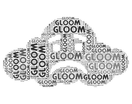 melancholia: Gloom Word Representing Despondency Gloomy And Melancholia