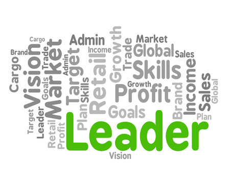 autoridad: Leader Word Showing Control Authority And Management Foto de archivo