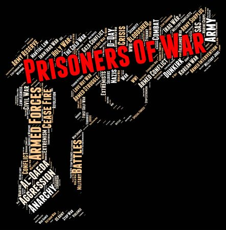 prisoners: Prisoners Of War Showing Military Action And Conflicts Stock Photo