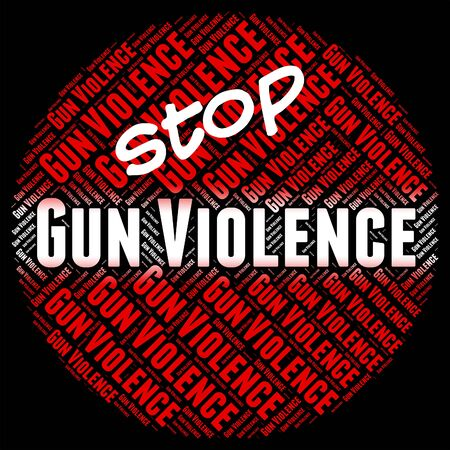 savagery: Stop Gun Violence Representing Brute Force And Cruel