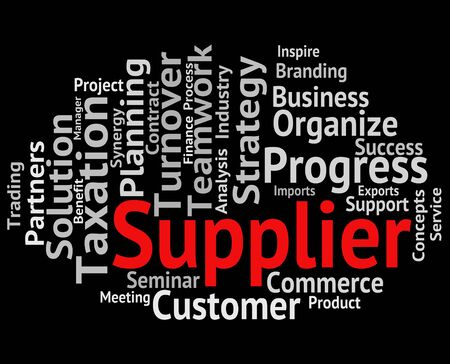 retailer: Supplier Word Representing Manufacturer Distributor And Retailer