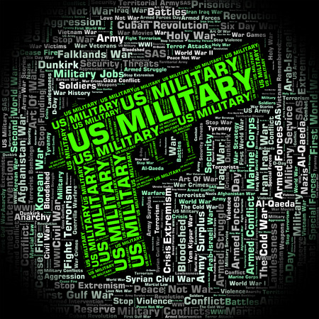 us military: Us Military Showing United States Army And United States Army Stock Photo