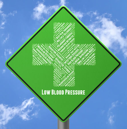 afflictions: Low Blood Pressure Meaning Poor Health And Display Stock Photo