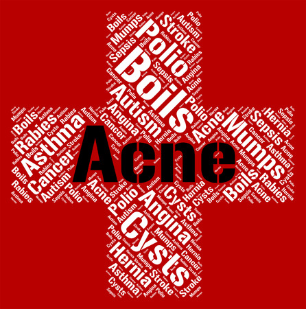 Acne Word Meaning Ill Health And Eczema