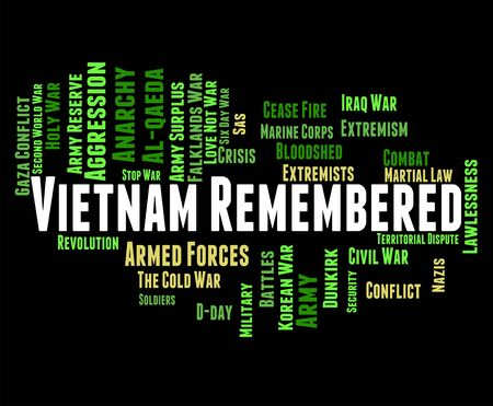 remembered: Vietnam War Meaning North Vietnamese Army And Call To Mind Stock Photo