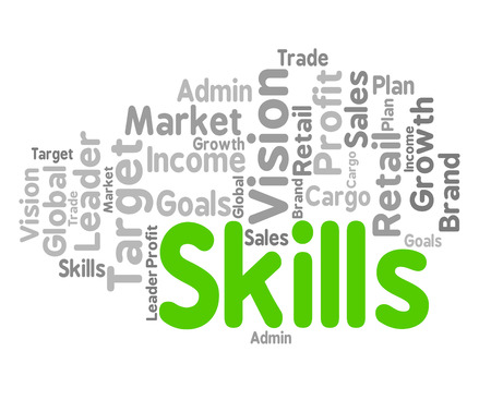 Skills Word Indicating Skilled Aptitudes And Words