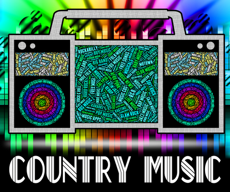 c a w: Country Music Meaning Sound Track And Songs Stock Photo