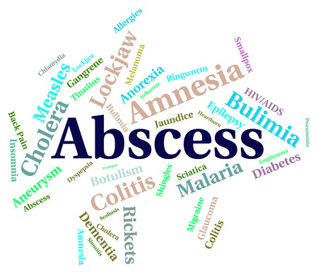 abscess: Abscess Illness Indicating Afflictions Abcesses And Sickness