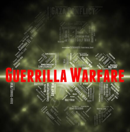 guerrilla: Guerrilla Warfare Meaning Freedom Fighters And Terrorist Stock Photo