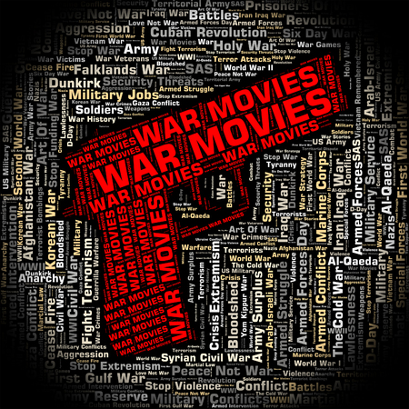 motion picture: War Movies Indicating Motion Picture And Combat Stock Photo