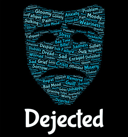 crestfallen: Abatido Palabra Significado Palabras Wordclouds y desolado