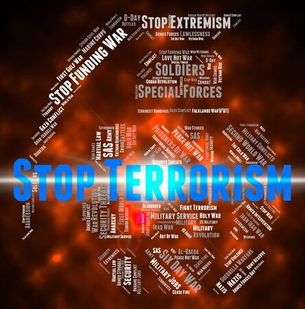 agitation: Stop Terrorism Representing Freedom Fighter And Hijacker