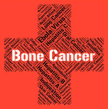 maligno: El c�ncer de hueso que indica un crecimiento maligno y aflicciones