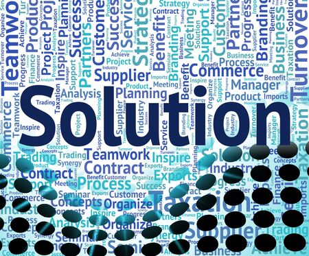 the solution: Solution Word Showing Success Text And Solving
