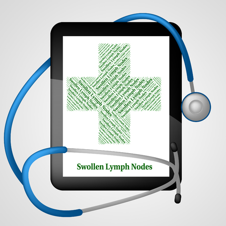lymph: Swollen Lymph Nodes Meaning Infectious Lymphadenitides And Sick Stock Photo