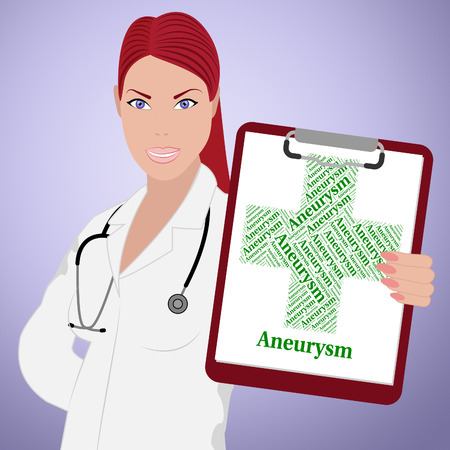 afflictions: Aneurysm Word Representing Artery Wall And Disability
