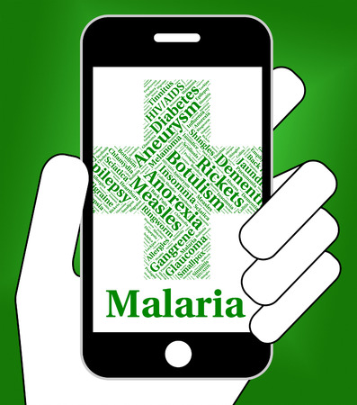 infections: Malaria Disease Meaning Contagion Infections And Complaint Stock Photo