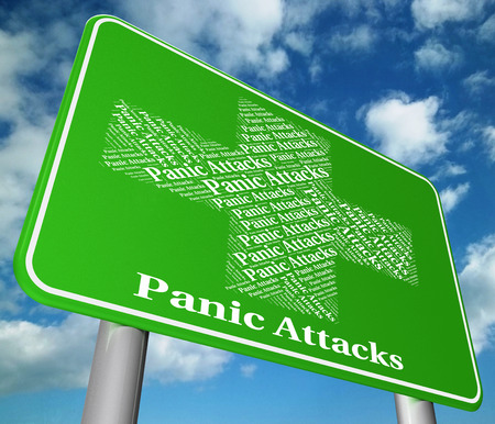 palpitations: Panic Attacks Indicating Ill Health And Displays Stock Photo