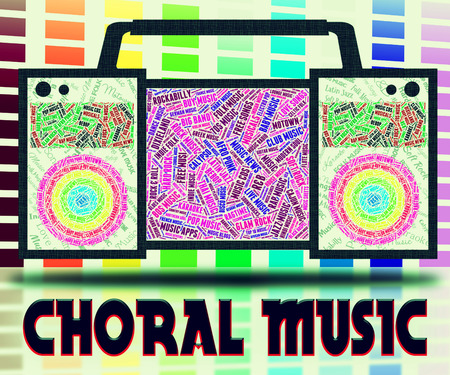voices: Choral Music Indicating Sound Track And Choristers
