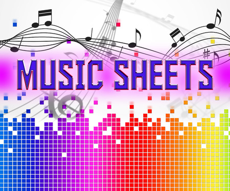 melodies: Sheet Music Representing Sound Track And Melodies