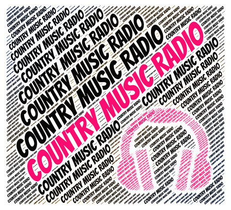 country music: Country Music Radio Showing Sound Track And Audio
