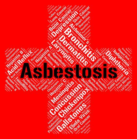 lungenkrebs: Asbestosis Word Showing Lung Cancer And Contagion Lizenzfreie Bilder