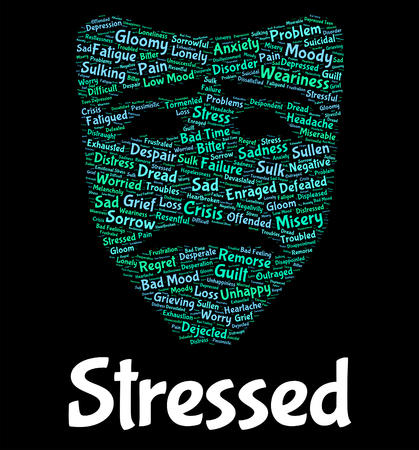 stressing: Stressed Word Showing Words Stressing And Pressures