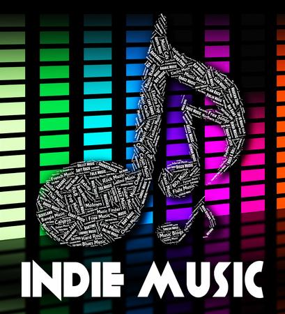 indie: Indie Music Showing Sound Tracks And Pop