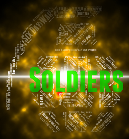 comrade: Soldiers Word Representing Comrade In Arms And Fighting Woman Stock Photo