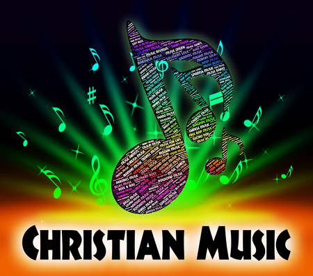 soundtrack: Christian Music Indicating Sound Track And Religion Stock Photo