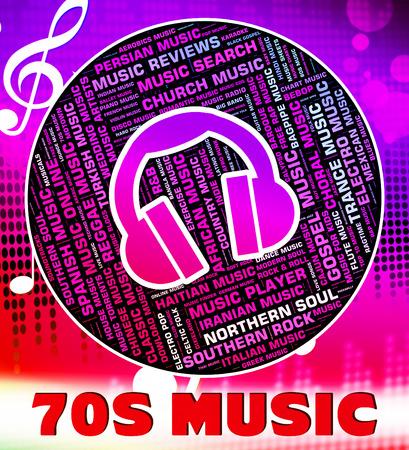 harmonies: Seventies Music Showing Sound Track And Harmonies Stock Photo