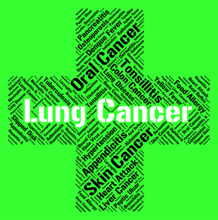 diseased: Lung Cancer Representing Ill Health And Affliction