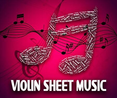 soundtrack: Violin Sheet Music Meaning Sound Track And Soundtrack Stock Photo