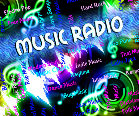 melodies: Music Radio Representing Sound Track And Melodies Stock Photo