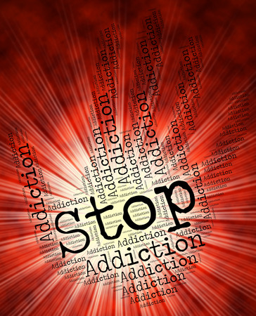 dependence: Stop Addiction Representing Craving Prevent And Dependence