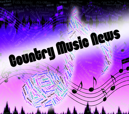 c a w: Country Music News Indicating Sound Track And Acoustic Stock Photo