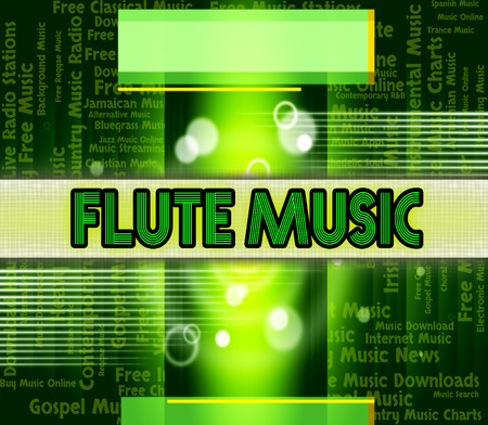 flute music: Flute Music Indicating Sound Track And Soundtrack