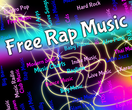 rap: Free Rap Music Representing Spitting Bars And Emceeing Stock Photo