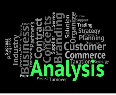 Analysis Word Representing Data Analytics And Analyse